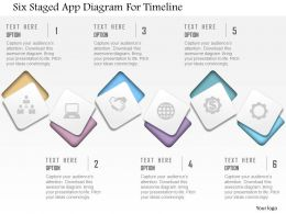 0115 Six Staged App Diagram For Timeline Powerpoint Template