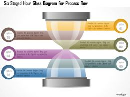 0115 Six Staged Hour Glass Diagram For Process Flow Powerpoint Template
