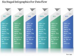 0115 Six Staged Infographics For Data Flow Powerpoint Template