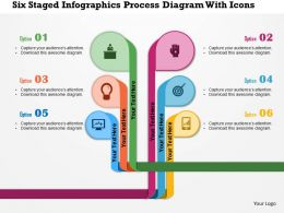 0115 Six Staged Infographics Process Diagram With Icons Powerpoint Template