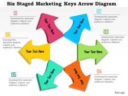 0115 Six Staged Marketing Keys Arrow Diagram Powerpoint Template