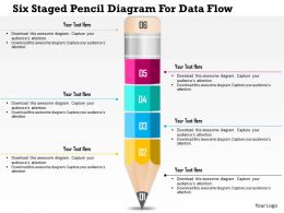 0115 Six Staged Pencil Diagram For Data Flow Powerpoint Template