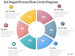 0115 Six Staged Process Flow Circle Diagram Powerpoint Template