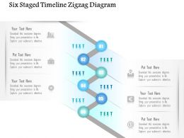 0115 Six Staged Timeline Zigzag Diagram Powerpoint Template
