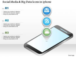 0115 Social Media And Big Data Icons In Iphone Ppt Slide