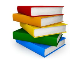 0115 Stack Of Colored Books Stock Photo