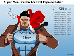 0115 Super Man Graphic For Text Representation Powerpoint Template