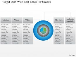 0115 Target Dart With Text Boxes For Success Powerpoint Template