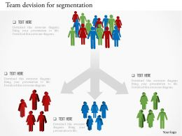 0115 Team Devision For Segmentation Powerpoint Template