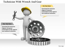 0115 Technician With Wrench And Gear Ppt Graphics Icons