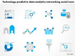0115 Technology Predictive Data Analytics Networking Social Icons Ppt Slide