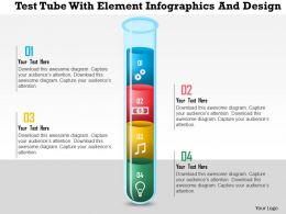0115 Test Tube With Element Infographics And Design Powerpoint Template
