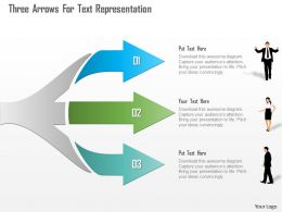 0115 Three Arrows For Text Representation Powerpoint Template