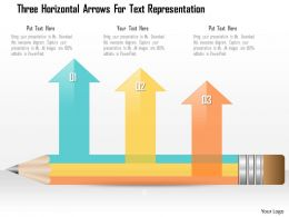 0115 Three Horizontal Arrows For Text Representation Powerpoint Template