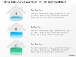 0115 Three Hut Shaped Graphics For Text Representation Powerpoint Template