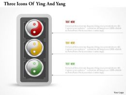 0115 Three Icons Of Ying And Yang Powerpoint Template