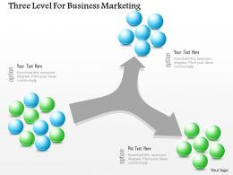 0115 Three Level For Business Marketing Powerpoint Template