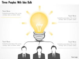 0115 Three Peoples With Idea Bulb Powerpoint Template