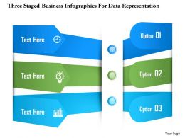 0115 Three Staged Business Infographics For Data Representation Powerpoint Template