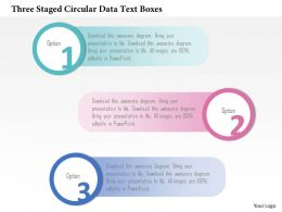 0115 Three Staged Circular Data Text Boxes Powerpoint Template