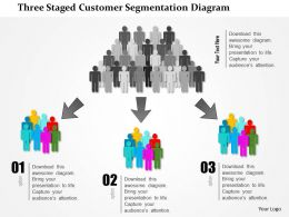 0115 Three Staged Customer Segmentation Diagram Powerpoint Template