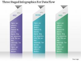 0115 Three Staged Infographics For Data Flow Powerpoint Template