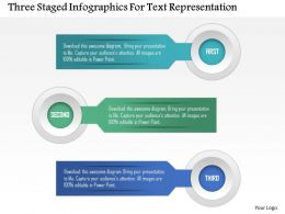 0115 Three Staged Infographics For Text Representation Powerpoint Template