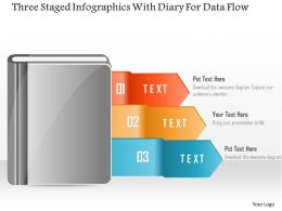 0115 Three Staged Infographics With Diary For Data Flow Powerpoint Template