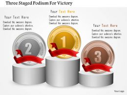 0115 Three Staged Podium For Victory Powerpoint Template