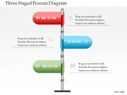 0115 Three Staged Process Diagram Powerpoint Template