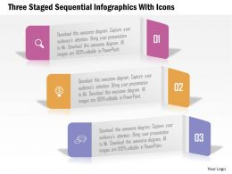 0115 Three Staged Sequential Infographics With Icons Powerpoint Template