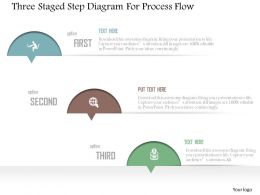 0115 Three Staged Step Diagram For Process Flow Powerpoint Template