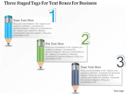 0115 Three Staged Tags For Text Boxes For Business Powerpoint Template