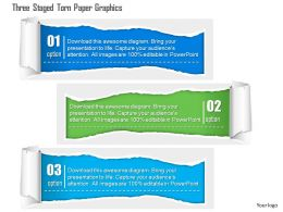 0115 Three Staged Torn Paper Graphics Powerpoint Template