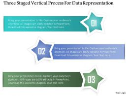 0115 Three Staged Vertical Process For Data Representation Powerpoint Template