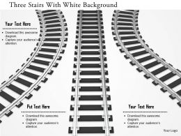 0115 Three Stairs With White Background Image Graphics For Powerpoint