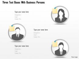 0115 Three Text Boxes With Business Persons Powerpoint Template
