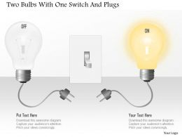 0115 Two Bulbs With One Switch And Plugs Powerpoint Template
