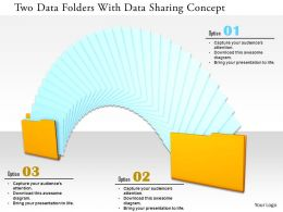 0115 Two Data Folders With Data Sharing Concept Image Graphic For Powerpoint