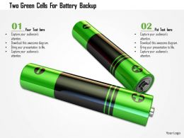 0115 Two Green Cells For Battery Backup Image Graphic For Powerpoint