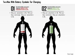 0115_two_man_with_battery_symbols_for_charging_powerpoint_template_Slide01