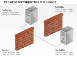 0115 Two Servers Firewall Partition Over Network Ppt Slide