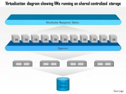 0115 Virtualization Diagram Showing Vms Running On Shared Centralized Storage Ppt Slide