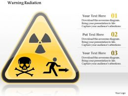 0115 Warning Radiation Nuclear Symbol Showing Skull And Exit Sign Ppt Slide