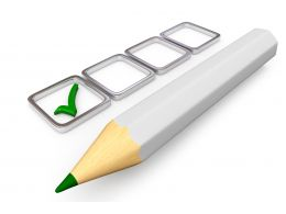 0115 White Pencil With Checklist Stock Photo
