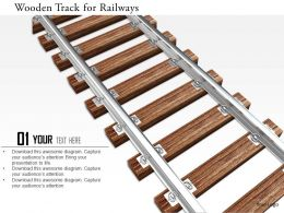 0115 Wooden Track For Railways Image Graphics For Powerpoint