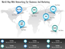 0115 World Map With Networking For Business And Marketing Powerpoint Template