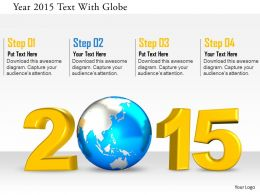 0115_year_2015_text_with_globe_image_graphics_for_powerpoint_Slide01