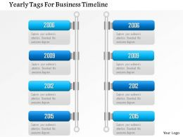 0115 Yearly Tags For Business Timeline Powerpoint Template