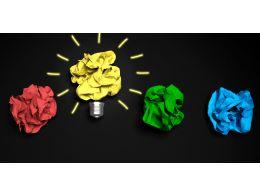 0115 Yellow Bulb For Idea Generation Stock Photo